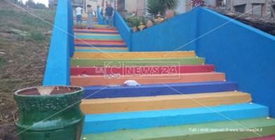 La scalinata riqualificata