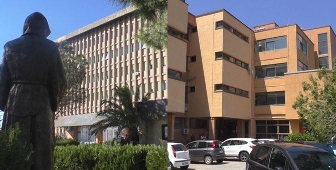 A sinistra l'ospedale di Paola, a destra l'ospedale di Cetraro