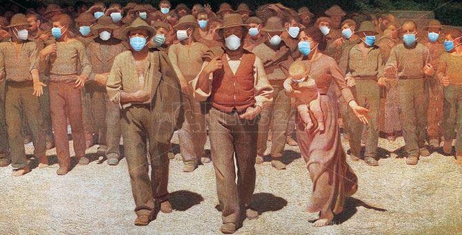 Quarto Stato... con mascherina (elaborazione grafica comparto post-produzione LaC)