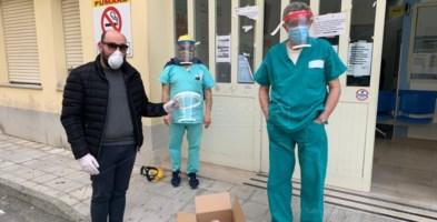 Soverato, caschi realizzati con la stampante 3D per medici e infermieri