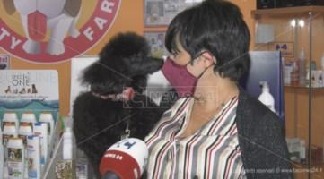 Cinzia Palmieri e il suo cane Gian