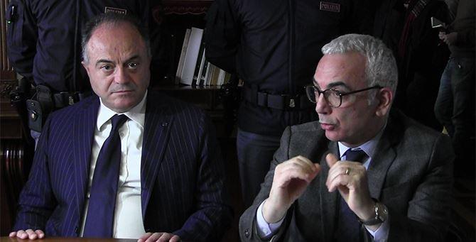 Un momento della conferenza stampa dell'operazione Valle dell'Esaro