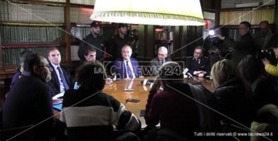 La conferenza stampa dell'operazione Valle d'Esaro