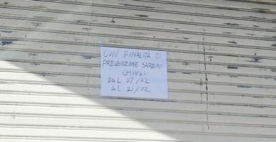 Il negozio cinese chiuso