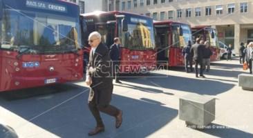 Cosenza, in servizio in città cinque nuovi autobus dell'Amaco