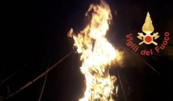 Incendio cabina elettrica a Gizzeria