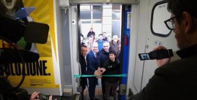 Taglio del nastro del Treno Verde 2020 alla stazione di Lamezia Terme