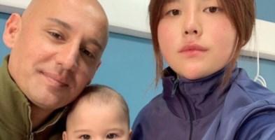 Paolo Dodaro insieme alla moglie e al figlio (foto HuffPost)