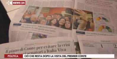 I giornali di oggi sulla visita di Conte in Calabria