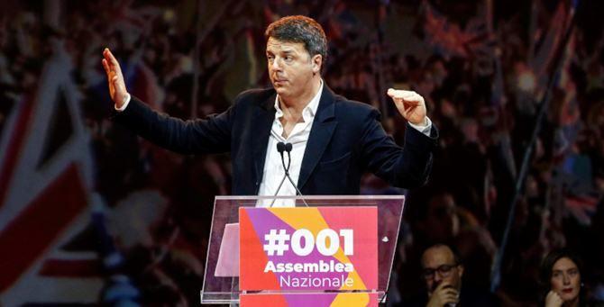 Matteo Renzi alla prima assemblea di Italia viva