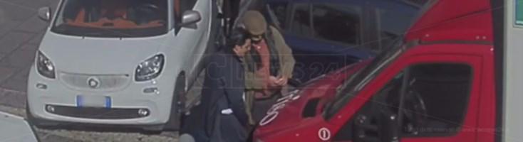 Francesco Saraco ed Emilio Santoro in una foto scattata dagli inquirenti