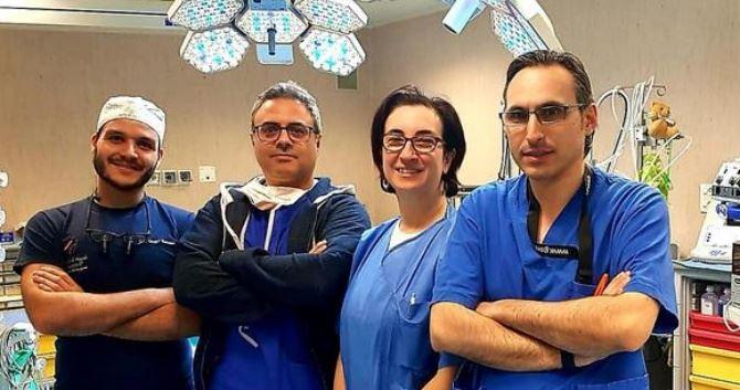 I medici impegnati nell'intervento