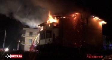 Incendio a Limbadi