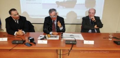 Conferenza stampa al porto di Gioia Tauro