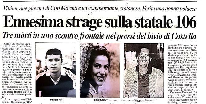 La pagina de Il crotonese del 2 gennaio 2000