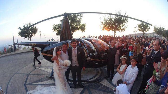 Sposi in elicottero a Nicotera