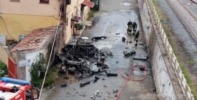 Furgone esploso a Catanzaro, conducente eroe guida il mezzo in fiamme per evitare tragedia