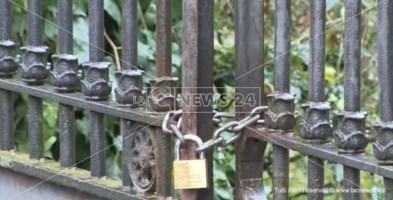Il cancello principale di Villa Gagliardi