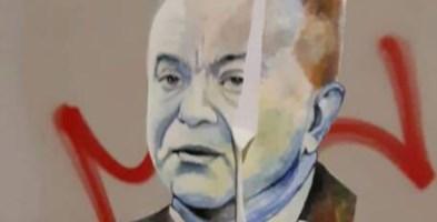 Crotone, danneggiata l'opera street art dedicata a Nicola Gratteri