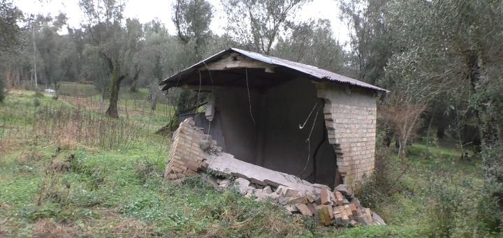 Casolare di Seminara distrutto dalla frana