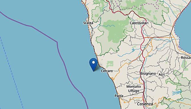 Terremoto al largo di Cetraro