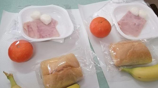 Il pasto servito agli alunni
