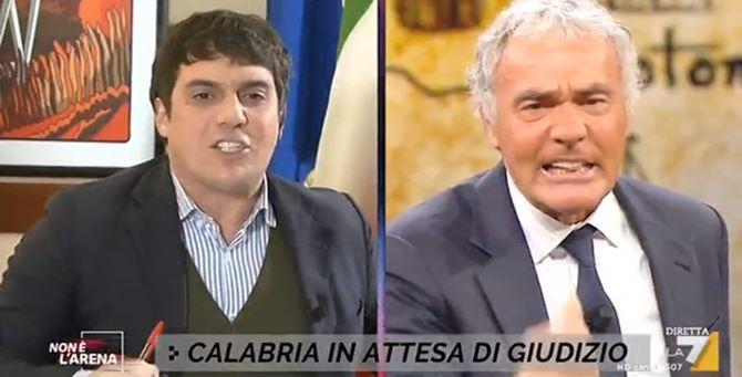 Marco Polimeni e Massimo Giletti