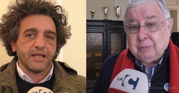 I candidati alla presidenza della Regione, Francesco Aiello e Pippo Callipo
