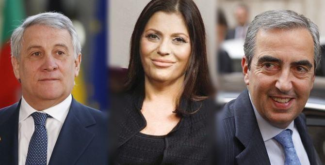 Tajani, Santelli e Gasparri