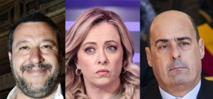Matteo Salvini, Giorgia Meloni, Nicola Zingaretti
