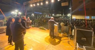 Jole Santelli apre la campagna elettorale, bagno di folla a Cassano
