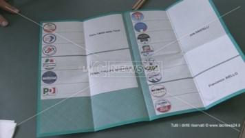 Scheda per le elezioni regionali 2020