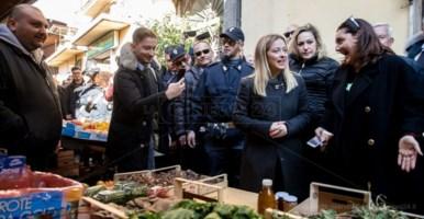 Giorgia Meloni a Crotone