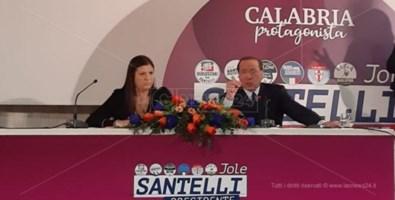 Jole Santelli e Silvio Berlusconi a Lamezia