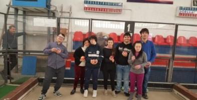 La squadra di bocce della Città di Cosenza composta da atleti con sindrome di Down