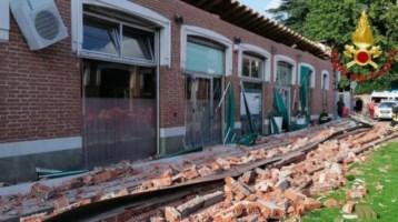 Crollo del tetto nel Varesotto