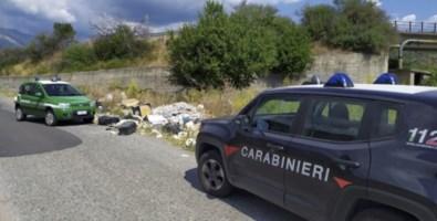 La discarica abusiva scoperta a Casignana