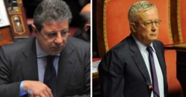 L'avvocato Pittelli (foto Il Fatto Quotidiano) e l'ex ministro Tremonti (foto ansa)