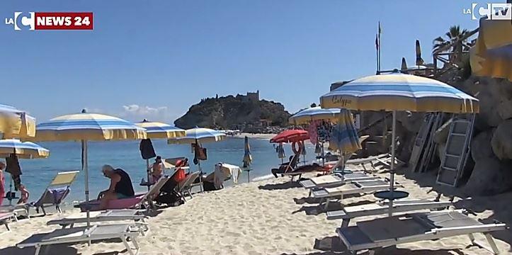 La spiaggia di Tropea (immagini di repertorio)