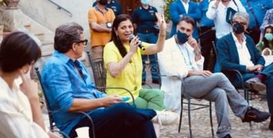 Da sinistra: Rocio Munoz Morales, Gabriele Muccino, Jole Santelli, Raoul Bova e Alessandro Passadore