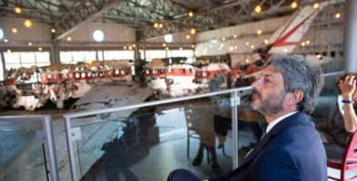 Roberto Fico alla commemorazione per la strage di Ustica (foto Ansa)