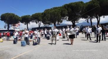 La protesta degli operatori del turismo a Lamezia