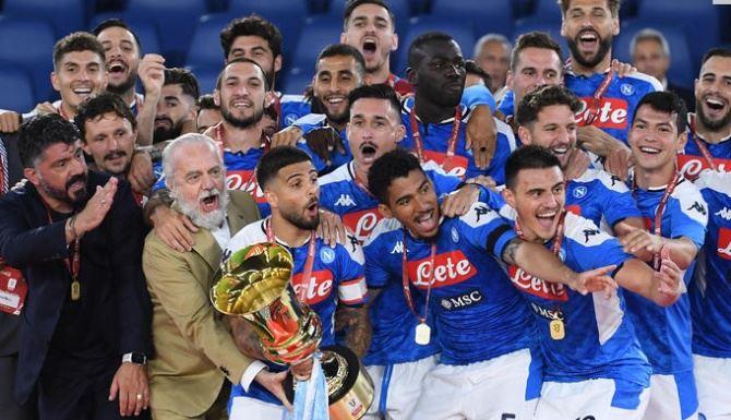 Il Napoli conquista la Coppa Italia battendo la Juventus (foto Ansa)