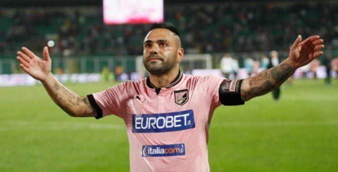 L'ex capitano del Palermo Fabrizio Miccoli