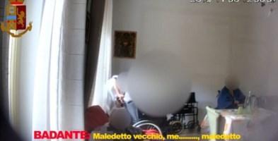 Le video intercettazioni della polizia di Palermo nella casa di riposo