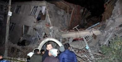 Edifici crollati nella provincia orientale turca di Elazig