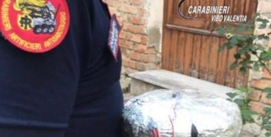 La bomba ritrovata a Vibo Valentia
