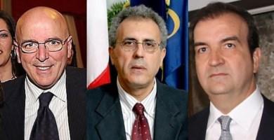 Mario Oliverio, Nicola Adamo e Mario Occhiuto