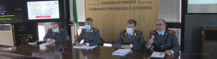 La conferenza stampa dell'operazione White collar