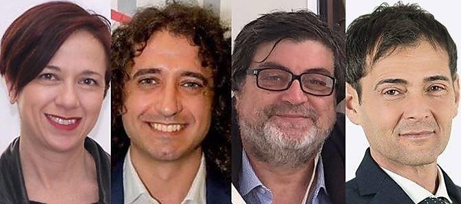 I parlamentari 5 stelle: Granato, Parentela, D'Ippolito e Sapia